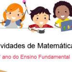 Atividades de matemática 1° ano imprimir