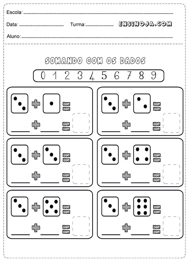 Well-known Atividades de matemática 1° ano ensino fundamental - Ensino Já XY15