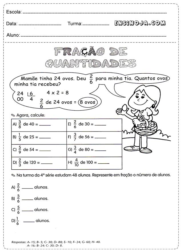 Top Atividades de matemática para imprimir 4° ano XJ23