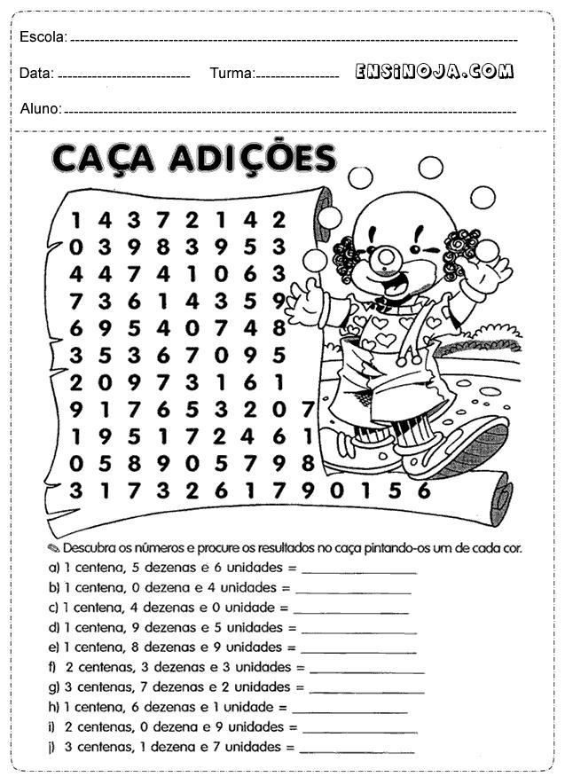 Favoritos Atividades matemática 2° ano para imprimir - Ensino Já YR28