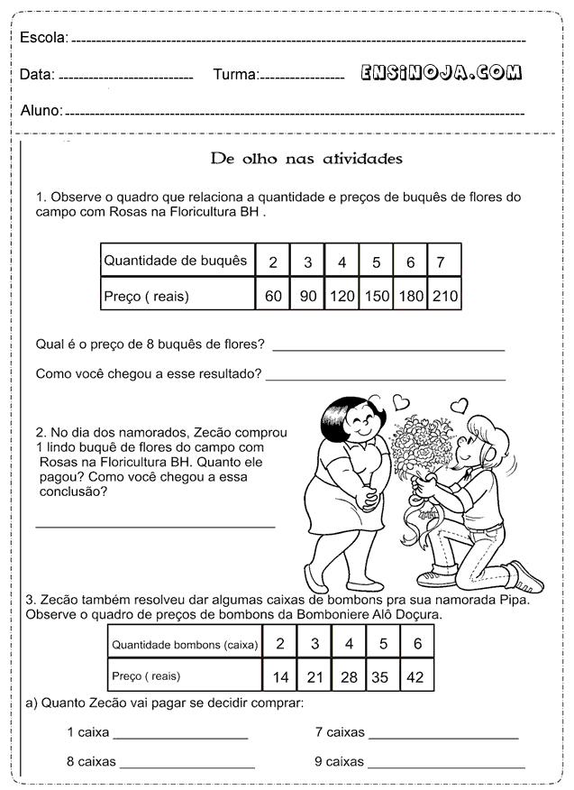 Exames matematica 4 ano