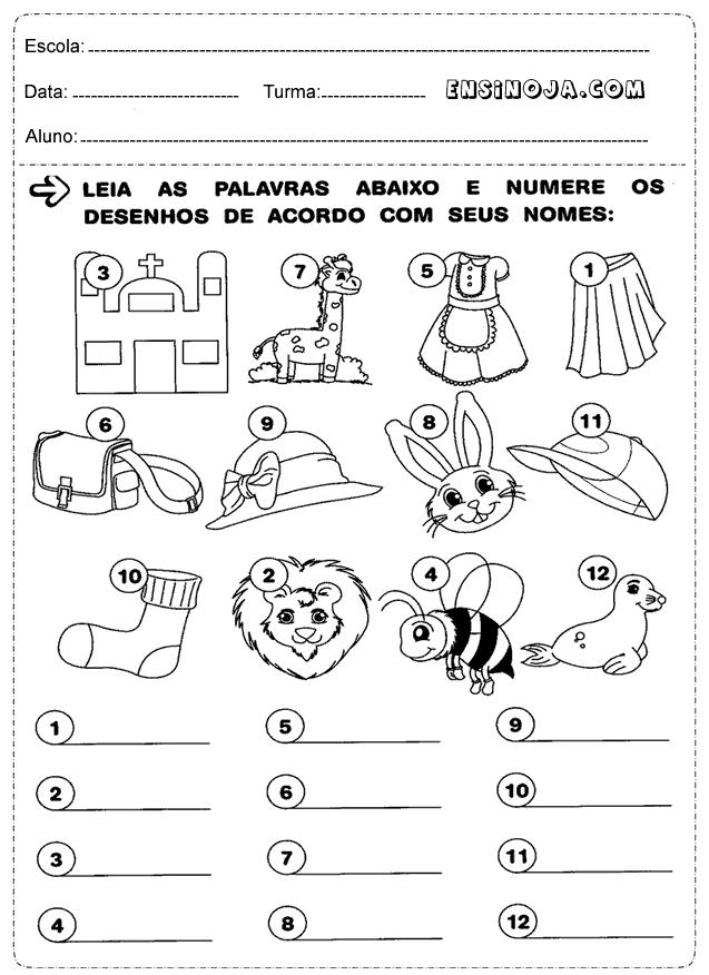 atividades de português 1° ano