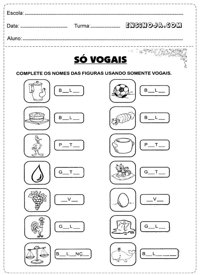 Atividades de Vogais
