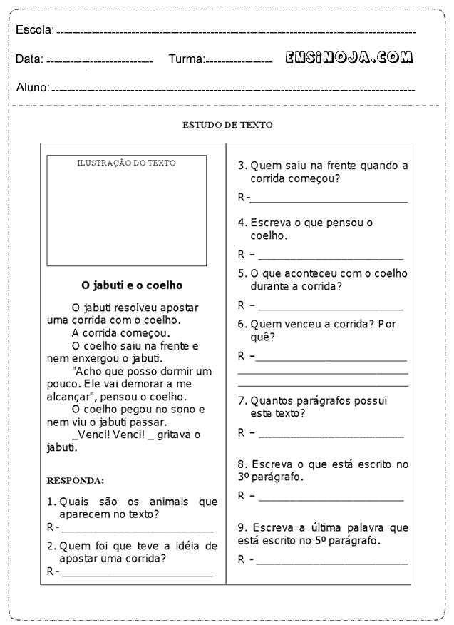 Interpretação de Texto 4° ano - Ensino Já