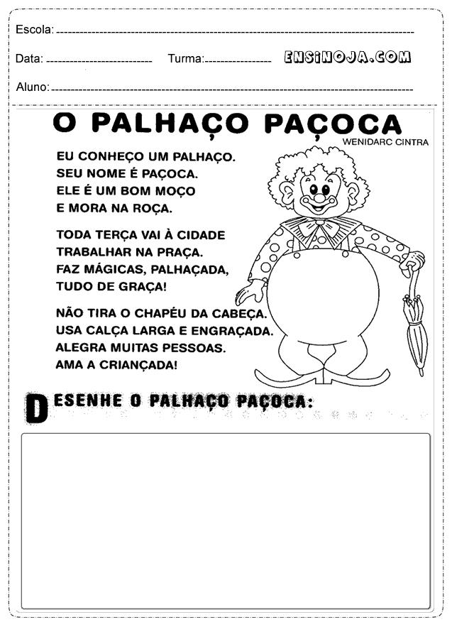 Desenhe o palhaço paçoca