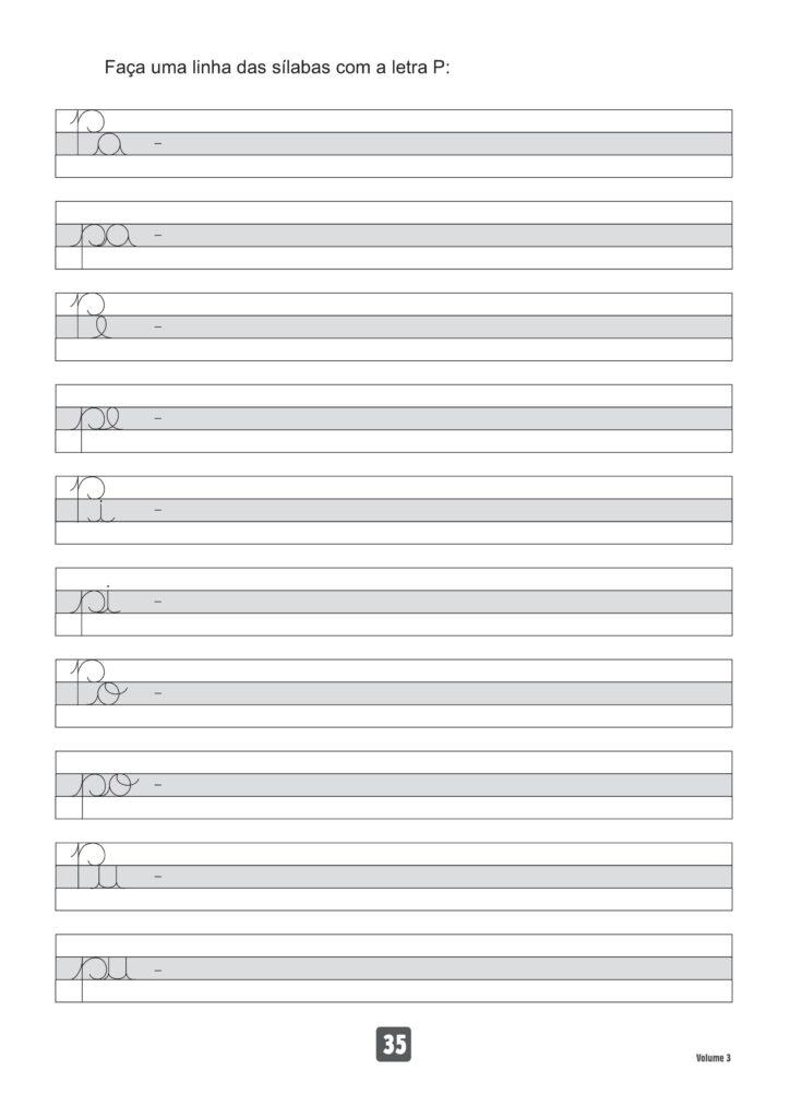 Atividades de vogais e consoantes letra p