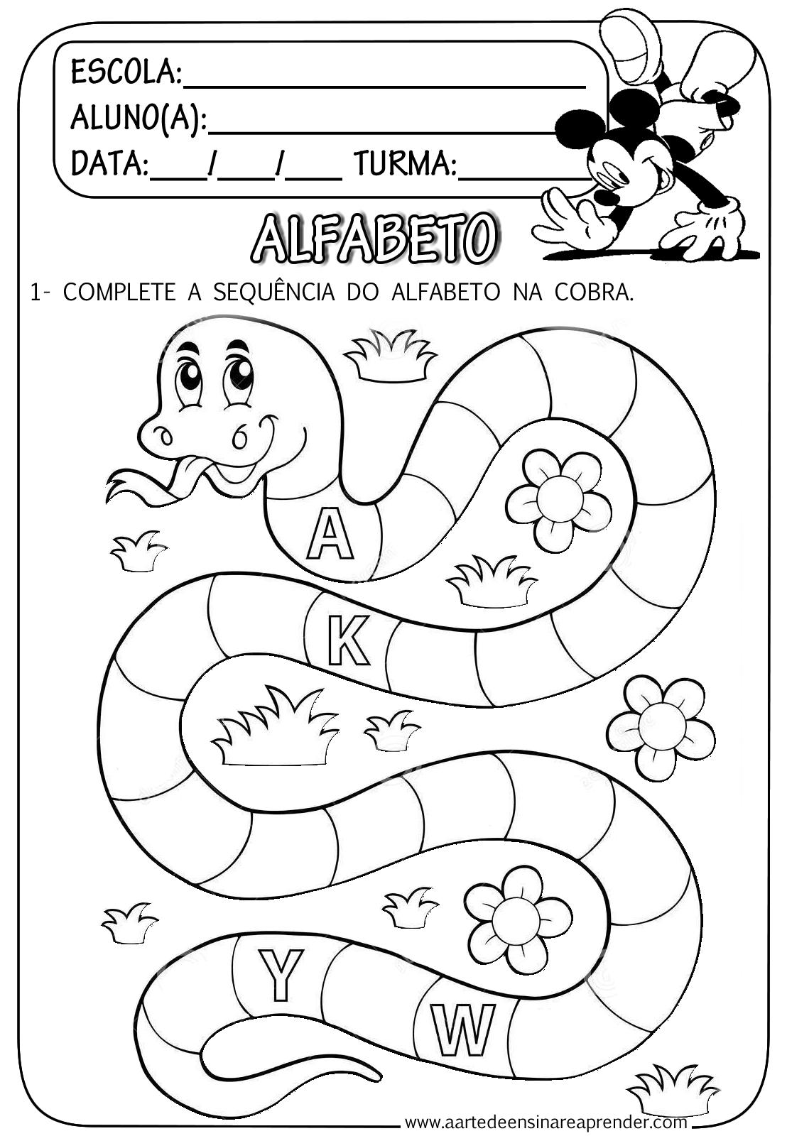 Famosos Atividades de Alfabetização para Educação Infantil - Ensino Já IU14