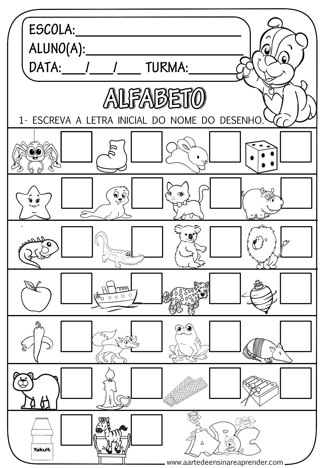 Populares Atividades de Alfabetização para Educação Infantil - Ensino Já DV49