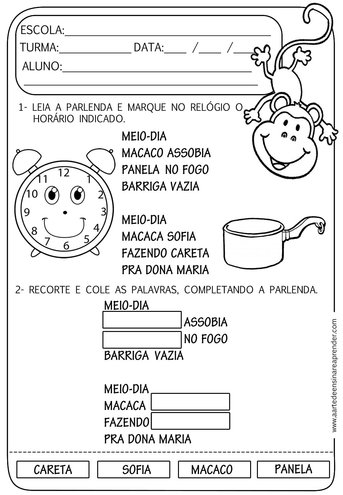 Famosos Atividades de Alfabetização para Educação Infantil - Ensino Já KM22
