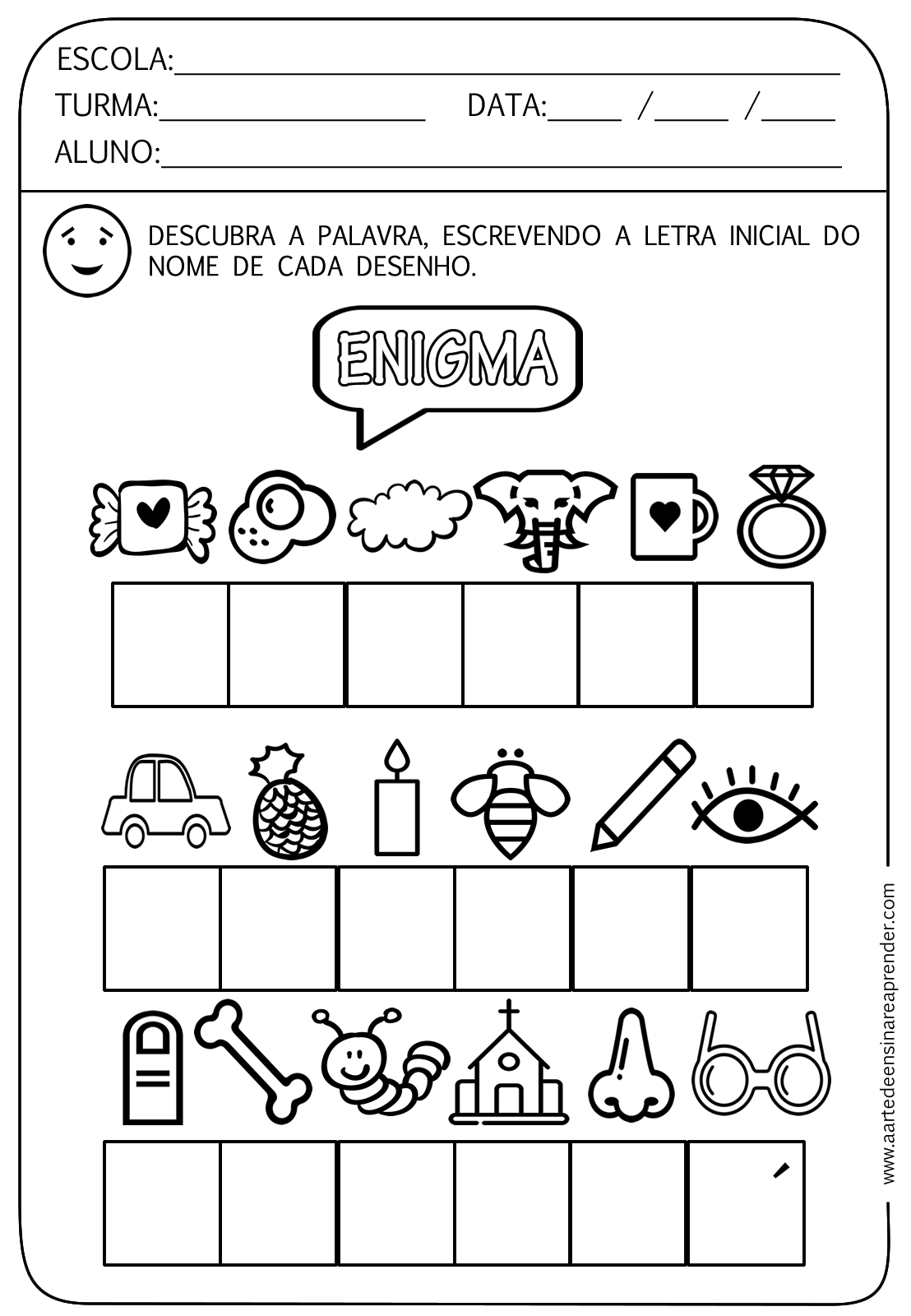 Favoritos Atividades de Alfabetização para Educação Infantil - Ensino Já TI43