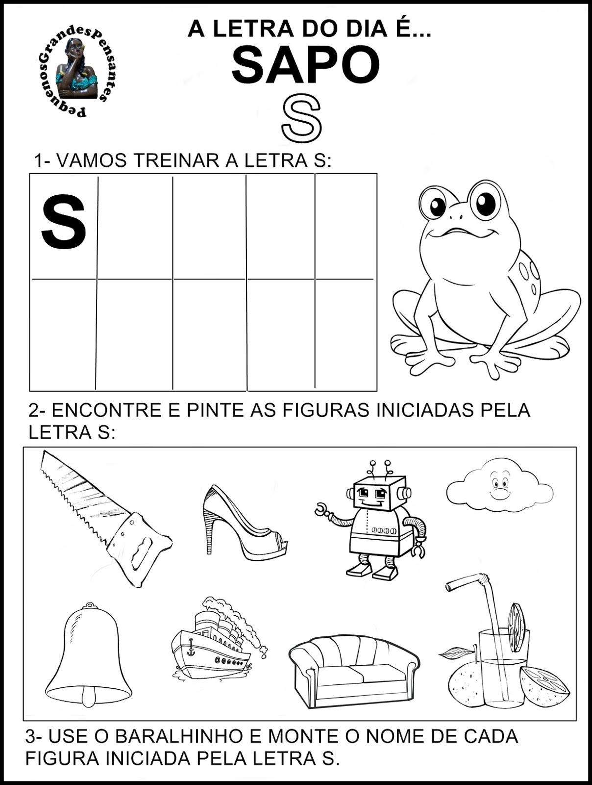 Conhecido Família Silábica Letra S - Ensino Já MQ67