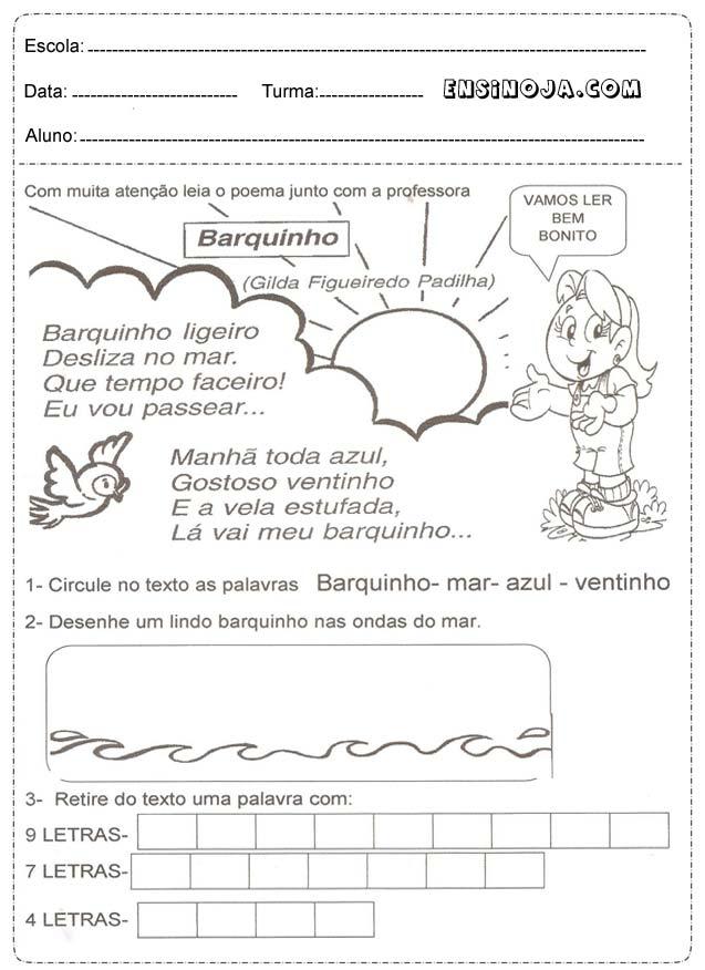 Atividades Com Barquinhos Para Educacao Infantil Ensino Já