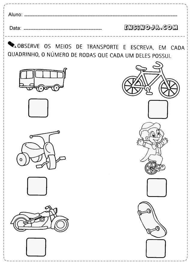 Conhecido Atividade transito educacao infantil - Ensino Já KZ17
