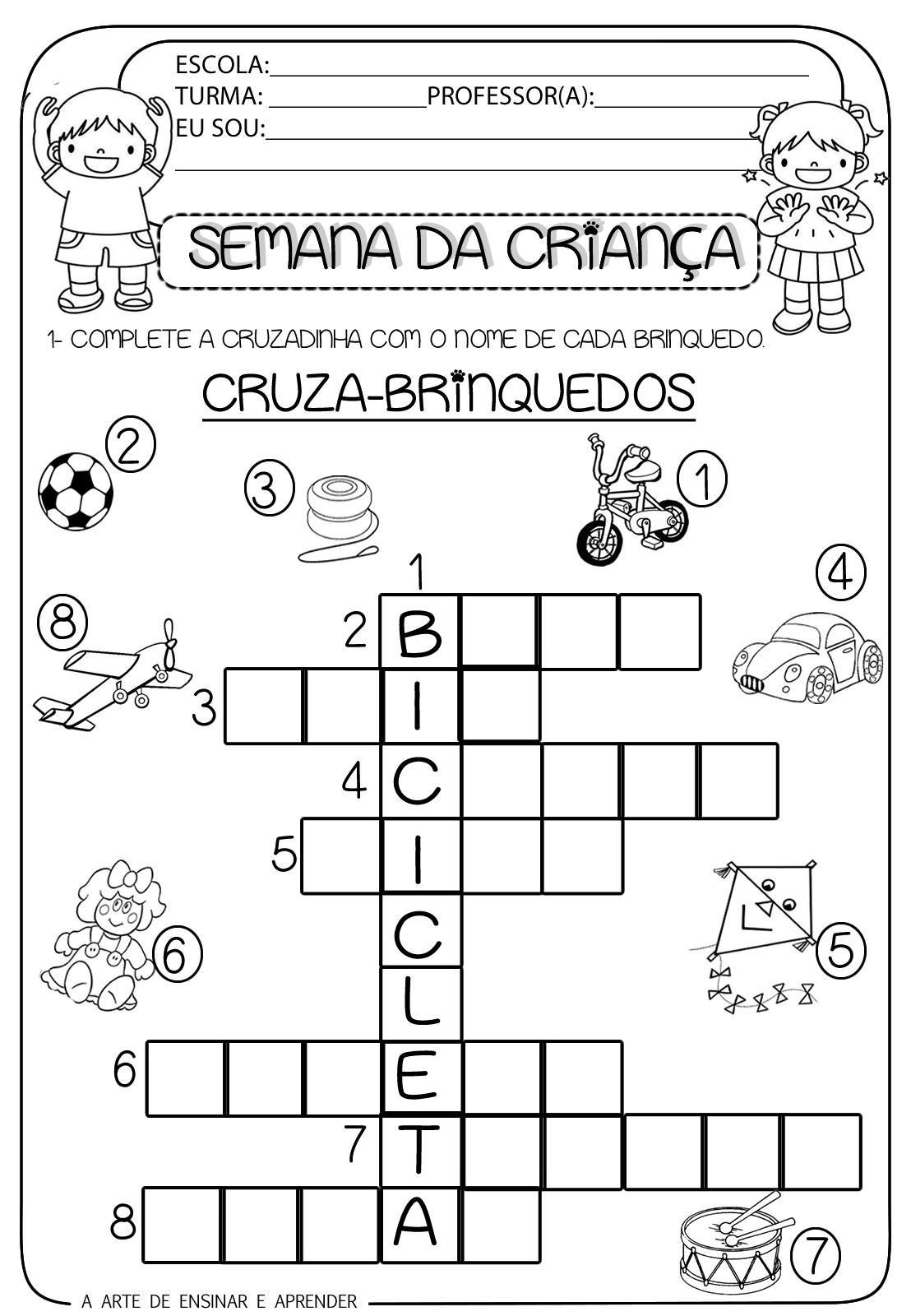 Preferência Atividades Semana da Criança educação infantil - Ensino Já ZD89