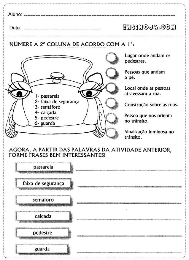 Extremamente Atividades dia do transito educacao infantil - Ensino Já CZ64