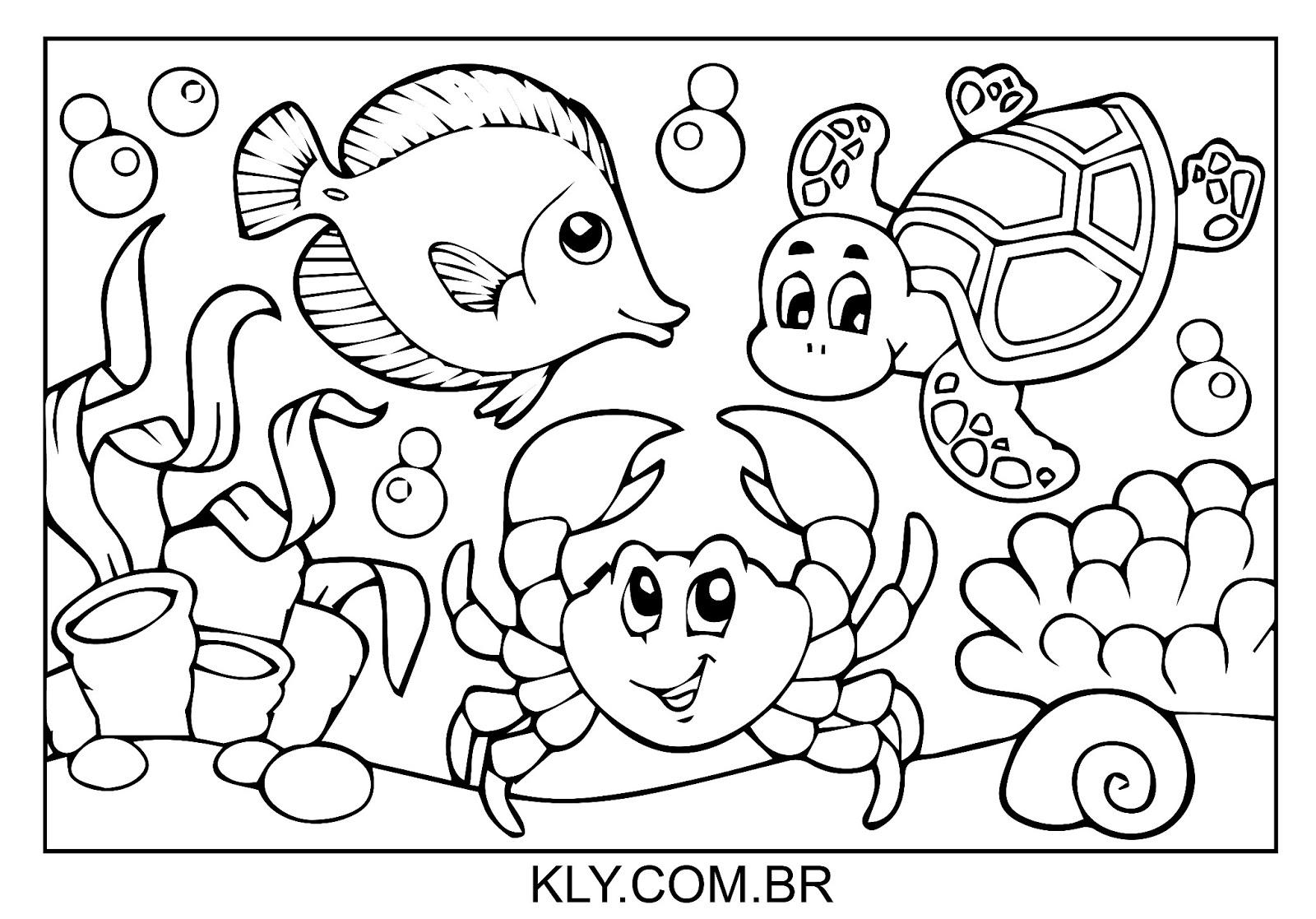 desenhos para colorir educação infantil ensino já