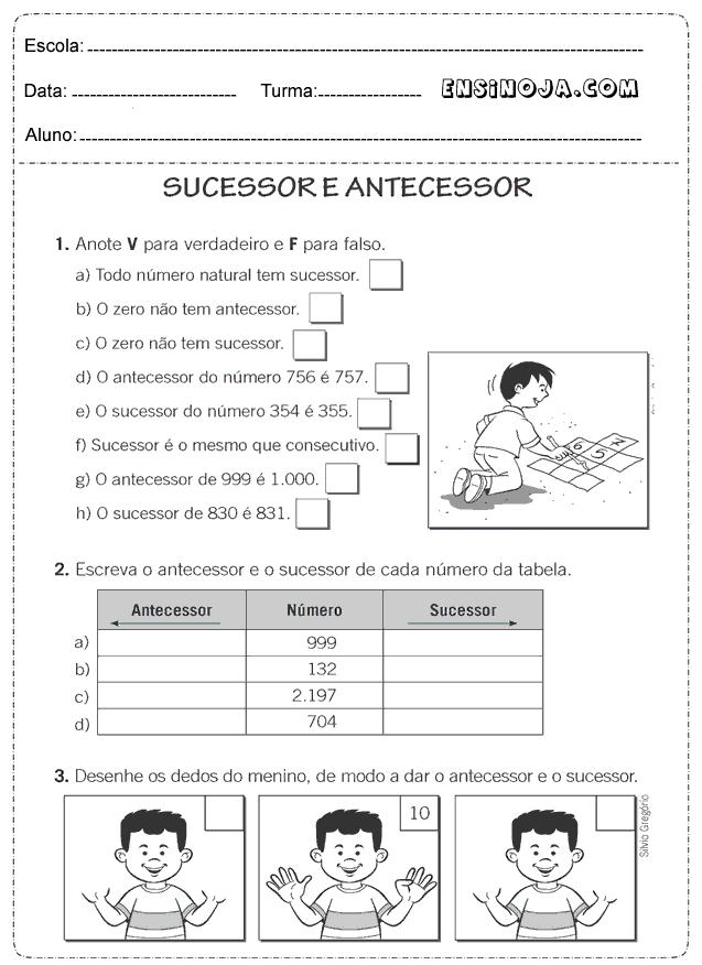 Atividades De Matematica Para Imprimir 4 Ano