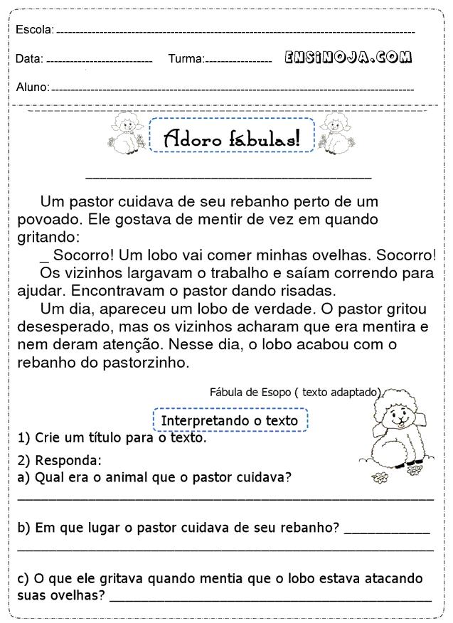 Atividades De Portugues 2 Ano Para Imprimir Ensino Ja