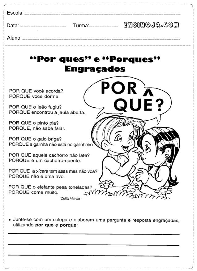 Atividades Portugues 4 Ano Imprimir Ensino Ja