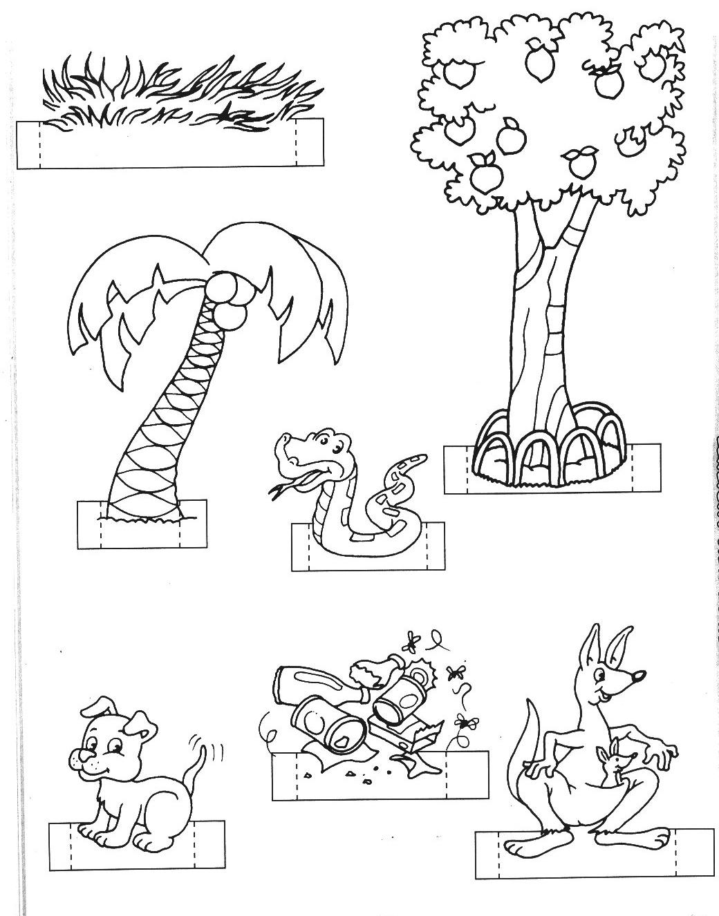 imagens de animais para colorir para maquete