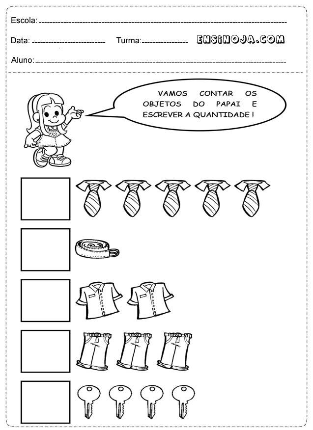 Atividades para educação infantil grupo 3
